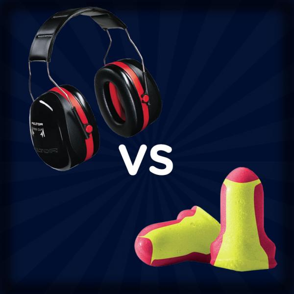 What is better for hearing protection: Ear Muffs or Ear Plugs?
