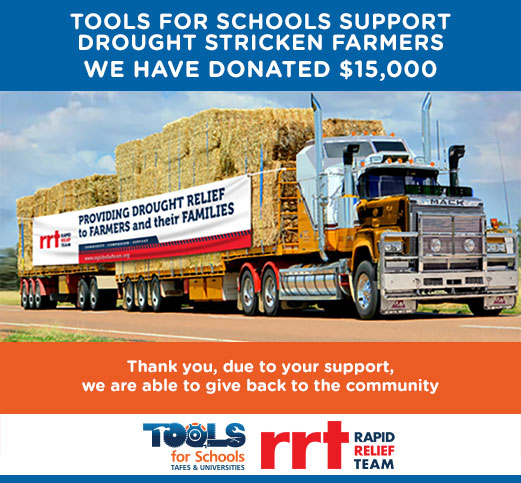 Join with Tools for Schools In Supporting NSW's Drought Stricken Farmers